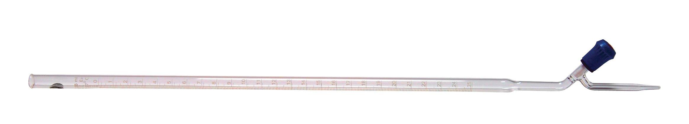 United Scientific BR2122-10 Burette with General Purpose Screw Thread Stopcocks with PTFE Keys, Class B, 10ml Capacity