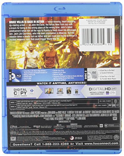 A Good Day to Die Hard (Blu-ray/DVD + Digital Copy)