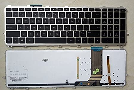 HP Envy 15-j173nf Keyboards4Laptops German Layout Silver Frame Backlit Black Windows 8 Laptop Keyboard Compatible with HP Envy 15-j172np HP Envy 15-J173CA HP Envy 15-j173np HP Envy 15-J173CL