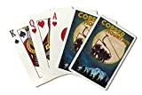 Copper Mountain, Colorado - Ski Lift and Full Moon (Playing Card Deck - 52 Card Poker Size with Jokers)