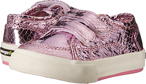 Morgan&Milo Kids Baby Girl's Lucy Double V (Toddler/Little Kid) Pink Sneaker
