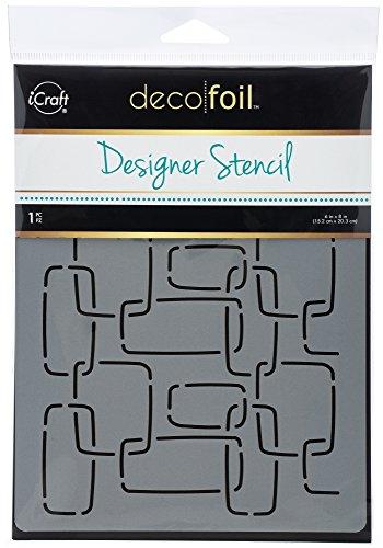iCraft Deco Foil Designer Stencil, Modern Links, 6