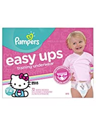 Pampers Easy Ups Training Underwear Girls 3T-4T (Size 5), 72 ...
