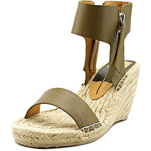 Dolce Vita Womens Gisele Espadrille Wedge Sandal Olive Leather