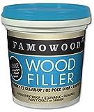 FamoWood 40042112 Latex Wood Filler - 1/4 Pint, Cherry/Dark Mahogany