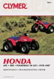 Honda ATC, TRX and Fourtrax 70-125, 1970-1987, Ed Scott and Haynes Manuals, Inc. Editors, 0892872144