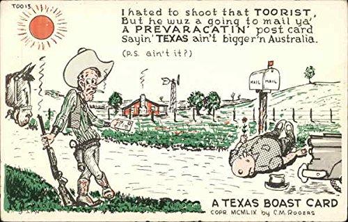 A Texas Boast Card Comic Funny Original Vintage Postcard from CardCow Vintage Postcards
