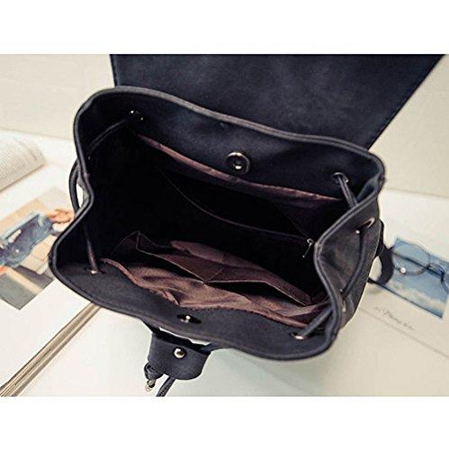 Remeehi - Bolso mochila  para mujer, negro (negro) - JXQ01959-2 negro