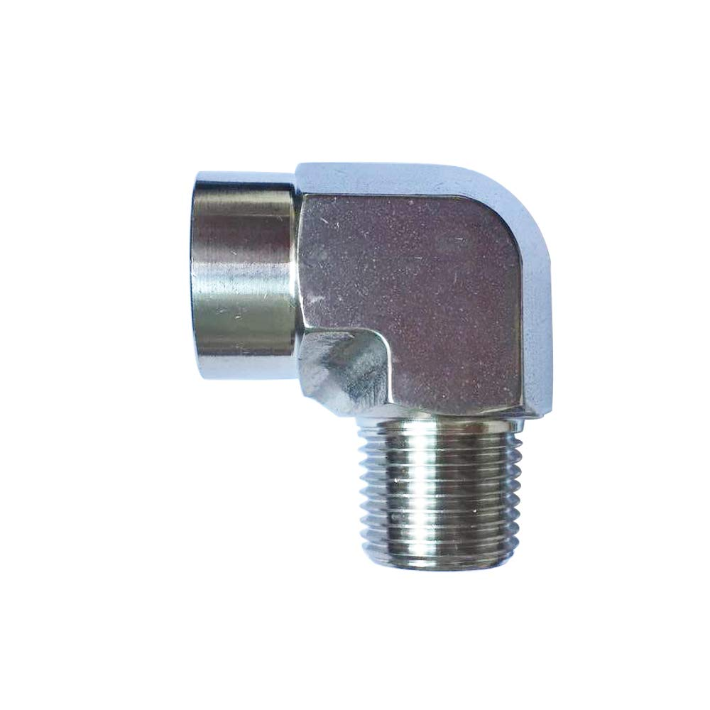 Metalwork 304 Stainless Steel Forged Pipe Fitting, 90 Degree Street Elbow, 1/2'' NPT Female x 1/2'' NPT Male, 2 Pcs