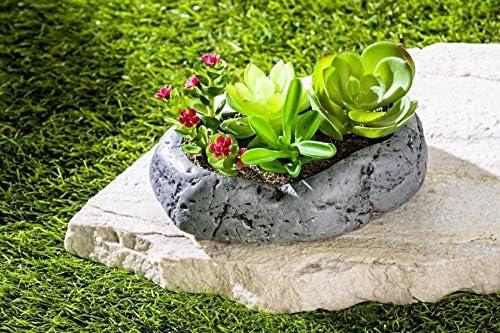 GKA - Decoración para jardín de Piedra con Cactus para Tumba, Flores Artificiales para Interior y Exterior, decoración de Cactus: Amazon.es: Juguetes y juegos