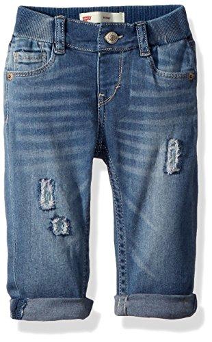 Levi's Baby Girls Skinny Fit Jeans, Cool Indigo 24M