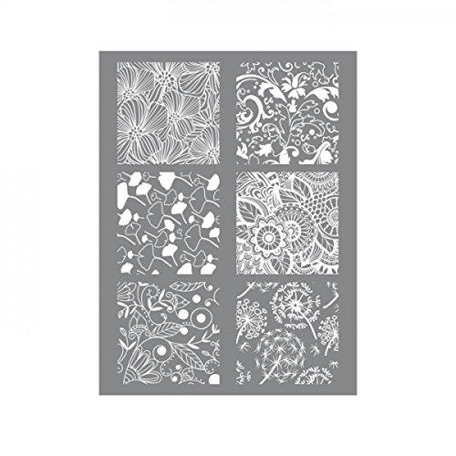 Youdoit Polymer paste stencil 11,4 x 15,3 cm - Flower
