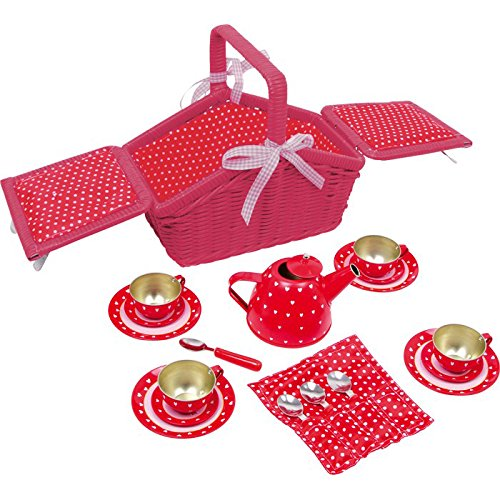 Red Picnic Basket (Sarah) Set Legler 2020982