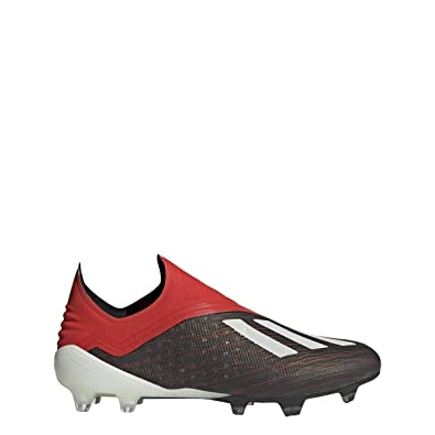00c9760be adidas X 18+ FG Cleat - Men s Soccer 6.5 Core Black White Action