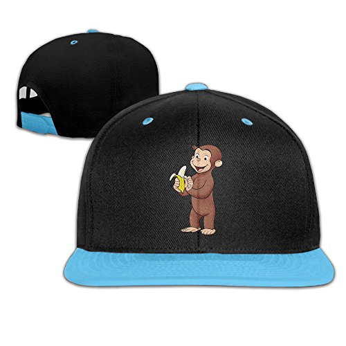 Curious George Hat (Curious George Banana Kid's Cool Punk Snapback)