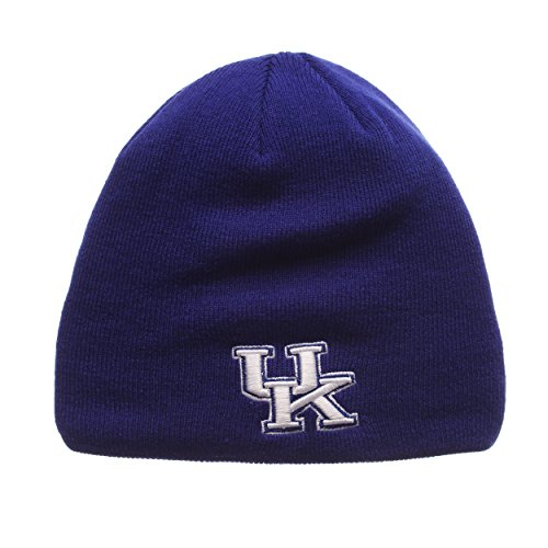 NCAA Kentucky Wildcats Adult Men Edge Knit Beanie, Adjustable, Team Color (Kentucky Wildcats Football Acrylic Ncaa)
