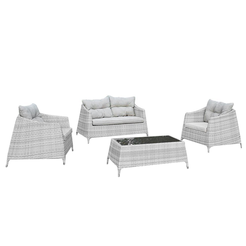 set sitzgruppe aus polyrattan sofa sessel tisch design garten m0906 08 g nstig online kaufen. Black Bedroom Furniture Sets. Home Design Ideas