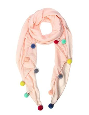 0dd379c745fb Image Unavailable. Image not available for. Color  Marcus Adler Pom Pom  Pink Scarves