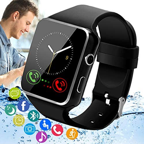Peakfun Smart Watch,Bluetooth Smartwatch Touch Screen Andriod Smartwatch Wrist Phone Watch with SIM Card Slot & Camera,Waterproof Sports Fitness Tracker Watch for Men Women Kids Andriod iOS Phones
