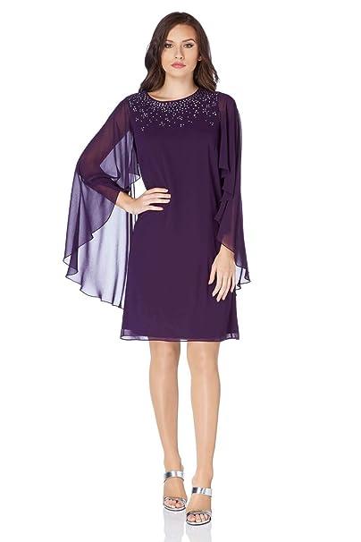 Roman Originals - Vestido - para mujer morado 42   Amazon.es  Ropa y  accesorios 4658d719bf36