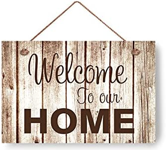 Wood Sign WELCOME Prim//Handmade Rustic Country Wall Hanging Sign Home Decor