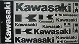 Kawasaki Logo Decal Sheet Black 14 Stickers In All K067-9508-BKNS