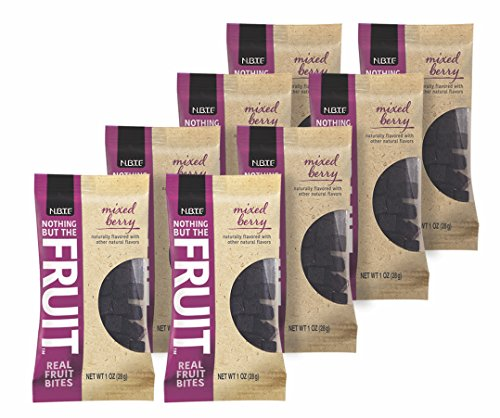 Nothing But the Fruit Real Fruit Bites, Gluten Free, Vegan Snacks, Mixed Berry, 1 oz. pouch (8 Count)
