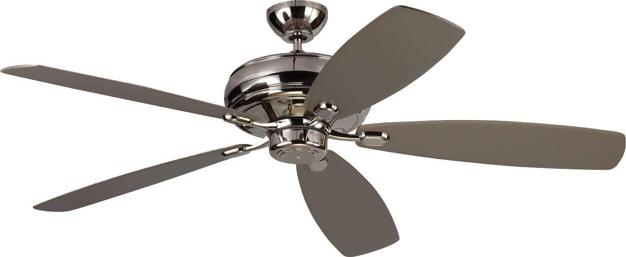 Monte Carlo 5EM60PN Embassy Max Energy Star 60 Ceiling Fan, 5 Blades, Polished Nickel