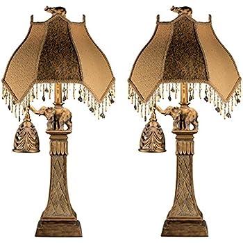 Ashley Furniture Signature Design   Elephant Theme Table Lamp With  Nightlight   Set Of 2