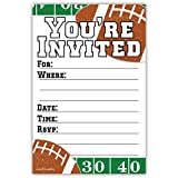 Football Party Invitations (20 Count) With Envelopes