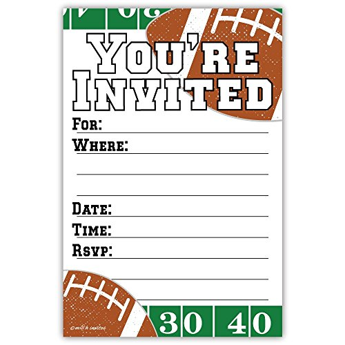 Feet Invitations (Football Party Invitations (20 Count) With Envelopes)