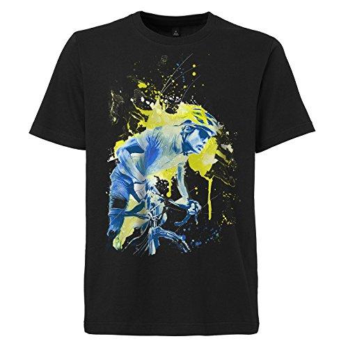 Radsport_IV schwarzes modernes Herren T-Shirt mit stylischen Aufdruck