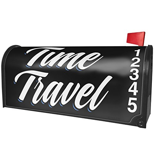 NEONBLOND Classic design Time Travel Magnetic Mailbox Cover Custom Numbers by NEONBLOND