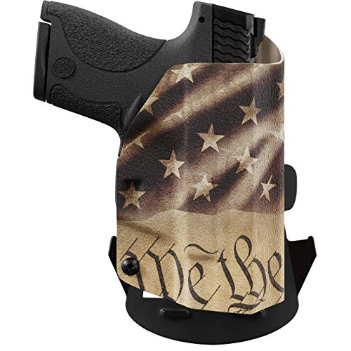 We The People - OWB Holster Compatible with Taser Pulse Gun - Outside Waistband Concealed Carry Kydex Holster (Left Hand, Constitution)