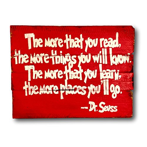 The More That You READ The More Things You Will KNOW Sign / Dr. Seuss Sign / Nursery Decor (Dr Seuss Signs)