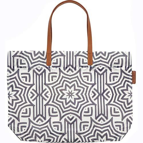 SunnyLIFE Luxe Mesh Tote Beach Bag Top Handle Summer Handbag - Azule ()