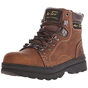 """AdTec Women's 6"""" Steel Toe Work Boot Brown Work Boot"""