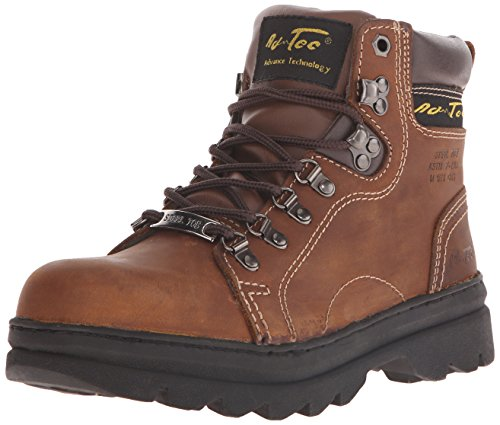 AdTec Women's 6 Inch Steel Toe Work Boot, Brown, 9 M US (Leather Steel Toe Western Boots)