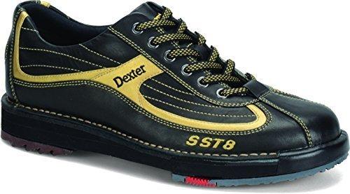 Dexter Men's SST 8 Wide Bowling Shoes, Black/Gold, 11.0 by Dexter