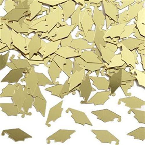 hersrfv home Graduation Gold Mortarboard Confetti 1/2 oz Bag ()