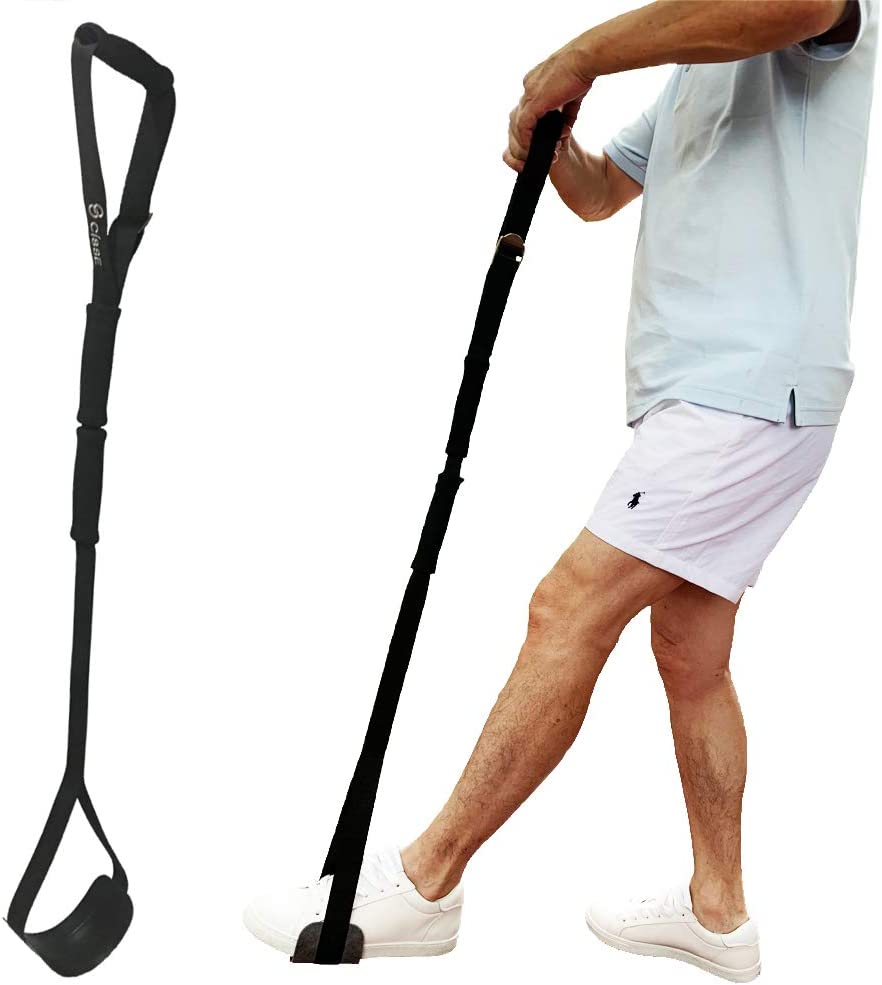 """Upgrades Leg Lifter Strap by CITISSE - Pre-Formed Foot Support, Easier to Enter - Stronger Toughness - Scalable 35""""- 45"""" - Ideal Mobility Tool for Wheelchair, Hip & Knee Replacement, Bed or Car"""