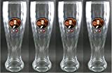 Set of 4 Hacker-Pschorr Weisse Beer Glasses