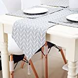 Hihome Table Runners and Placemats Set of 4 Cotton Linen Fabric Table Top Decoration for Kitchen Dining Table