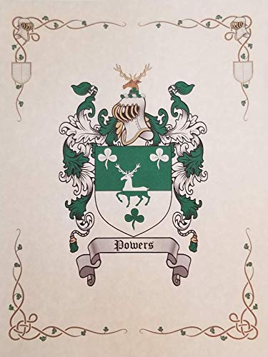 Dove Coat of Arms, Family Crest 8.5x11 Print - Surname Origin: Germany/German