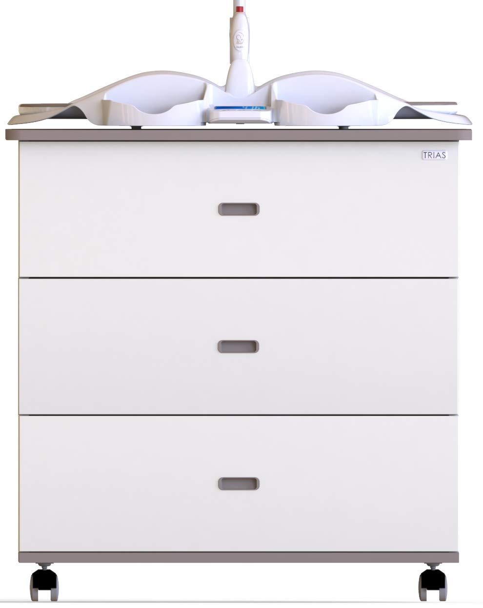 Made in Italy Italian Design Trias Cassettiera Dieghino/® Smart Fasciatoio Bilancia Neonato