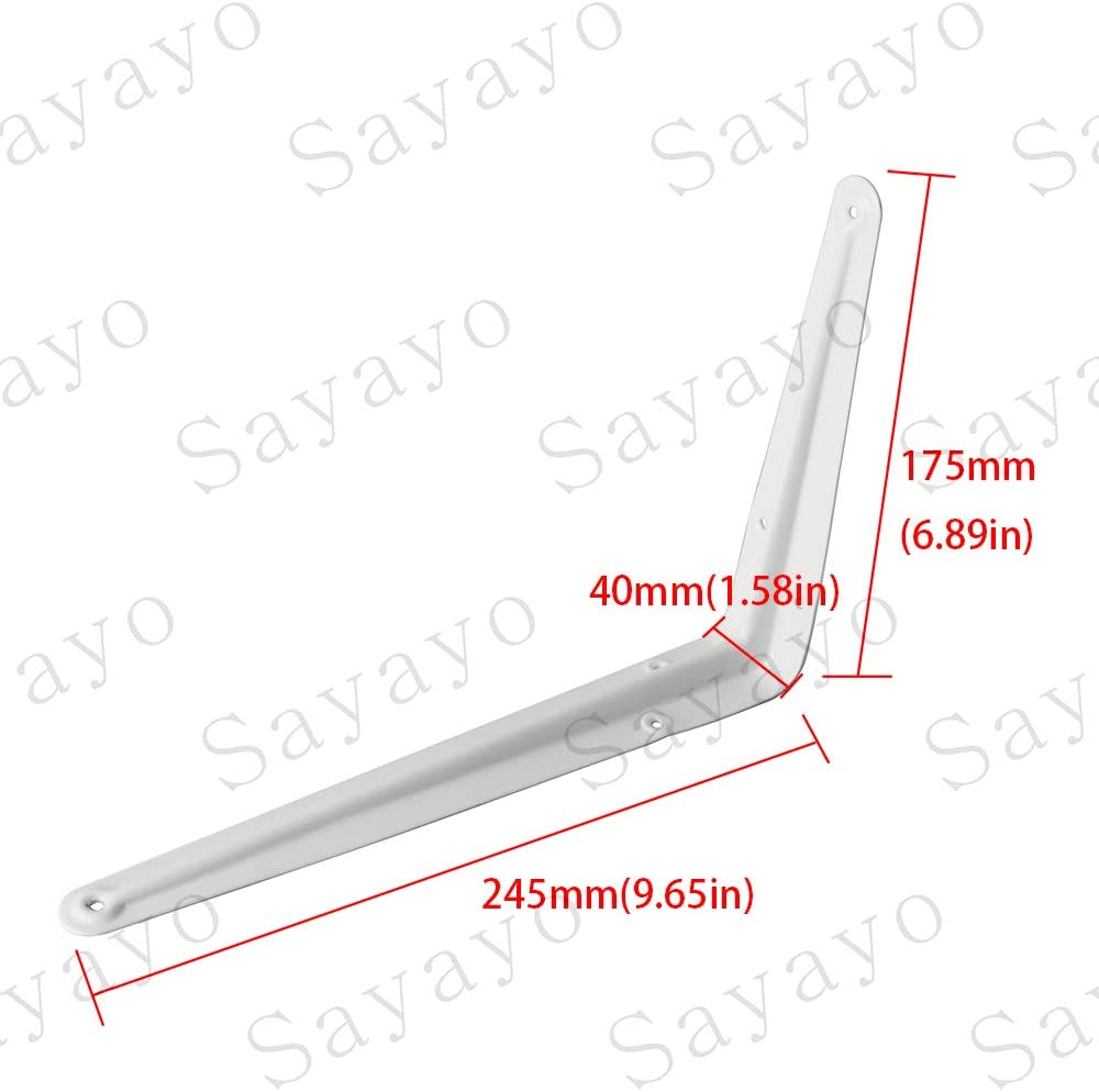 4 pi/èces suspension murale 200 mm * 125 mm support de tablette Sayayo Support de tablette de style londonien EJB3008W-4P blanc brillant support dangle support mural