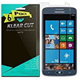 Samsung ATIV S Neo Screen Protector [6-Pack], Klear Cut High Definition Matte Screen Protector for Samsung ATIV S Neo PET Film Anti-Glare and Anti-Bubble Shield