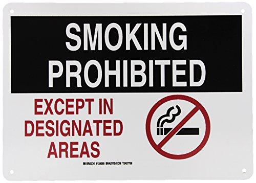 Brady 128080 Smoking Prohibited Designated