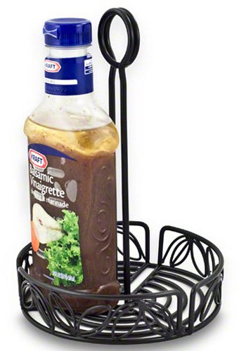 American Metalcraft (LDCC16) 6-1/4'' Wrought Iron Condiment Rack w/Leaf Design