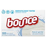 Bounce Fabric Softener Dryer Sheets, Free & Gentle, 120 Count